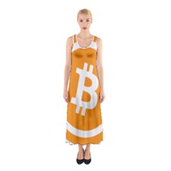 Bitcoin Cryptocurrency Currency Sleeveless Maxi Dress