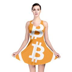 Bitcoin Cryptocurrency Currency Reversible Skater Dress