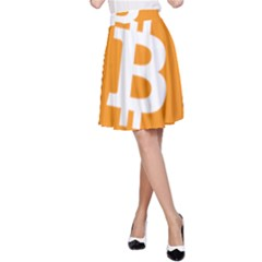 Bitcoin Cryptocurrency Currency A Line Skirt