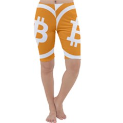 Bitcoin Cryptocurrency Currency Cropped Leggings