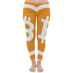 Bitcoin Cryptocurrency Currency Classic Winter Leggings