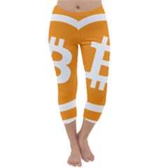 Bitcoin Cryptocurrency Currency Capri Winter Leggings