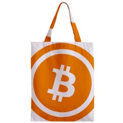 Bitcoin Cryptocurrency Currency Zipper Classic Tote Bag