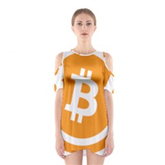 Bitcoin Cryptocurrency Currency Shoulder Cutout One Piece