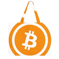 Bitcoin Cryptocurrency Currency Zipper Large Tote Bag