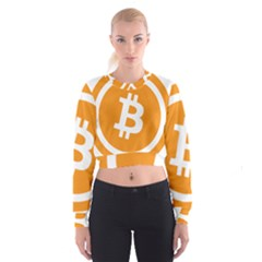 Bitcoin Cryptocurrency Currency Cropped Sweatshirt