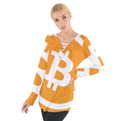Bitcoin Cryptocurrency Currency Women s Tie Up Tee