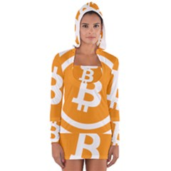 Bitcoin Cryptocurrency Currency Women s Long Sleeve Hooded T Shirt