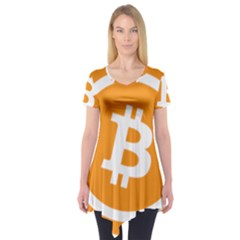 Bitcoin Cryptocurrency Currency Short Sleeve Tunic