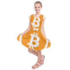 Bitcoin Cryptocurrency Currency Kids  Short Sleeve Dress