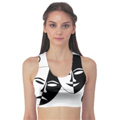 Theatermasken Masks Theater Happy Sports Bra