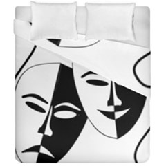 Theatermasken Masks Theater Happy Duvet Cover Double Side (california King Size)