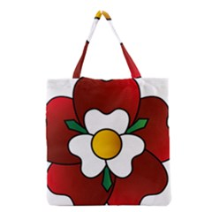 Flower Rose Glass Church Window Grocery Tote Bag
