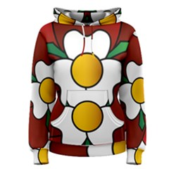 Flower Rose Glass Church Window Women s Pullover Hoodie