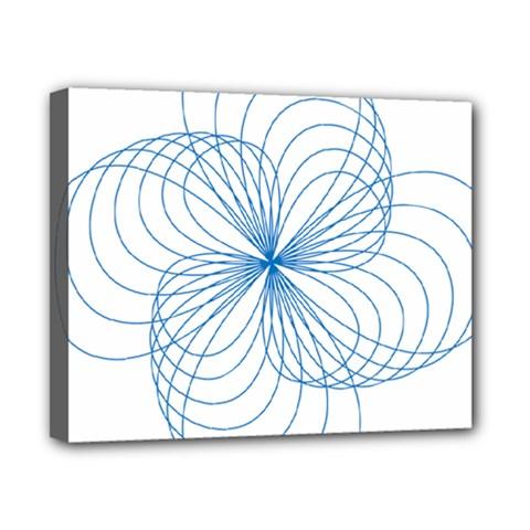 Blue Spirograph Pattern Drawing Design Canvas 10  x 8