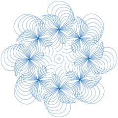 Blue Spirograph Pattern Drawing Design Hook Handle Umbrellas (Small)