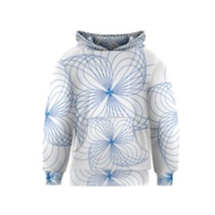 Blue Spirograph Pattern Drawing Design Kids  Pullover Hoodie