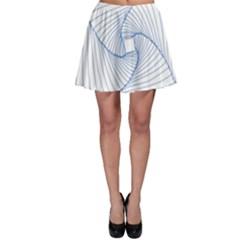 Spirograph Pattern Drawing Design Skater Skirt