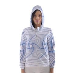 Spirograph Pattern Drawing Design Hooded Wind Breaker (women)