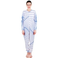 Spirograph Pattern Drawing Design Onepiece Jumpsuit (ladies)