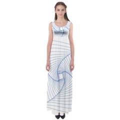 Spirograph Pattern Drawing Design Empire Waist Maxi Dress