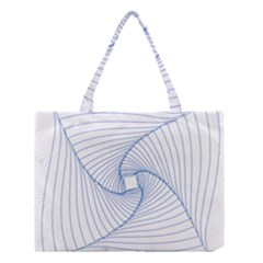 Spirograph Pattern Drawing Design Medium Tote Bag