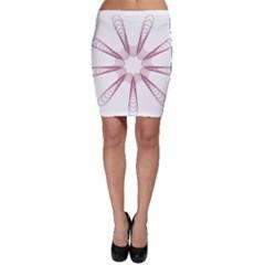 Spirograph Pattern Circle Design Bodycon Skirt