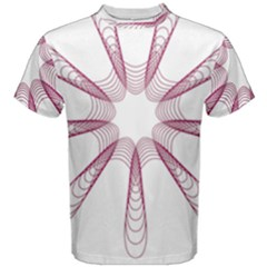 Spirograph Pattern Circle Design Men s Cotton Tee