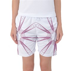 Spirograph Pattern Circle Design Women s Basketball Shorts