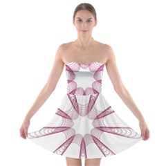 Spirograph Pattern Circle Design Strapless Bra Top Dress
