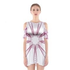 Spirograph Pattern Circle Design Shoulder Cutout One Piece