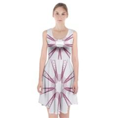 Spirograph Pattern Circle Design Racerback Midi Dress
