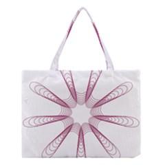 Spirograph Pattern Circle Design Medium Tote Bag