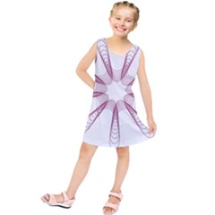 Spirograph Pattern Circle Design Kids  Tunic Dress