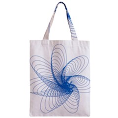 Spirograph Pattern Drawing Design Blue Classic Tote Bag