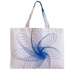 Spirograph Pattern Drawing Design Blue Zipper Mini Tote Bag