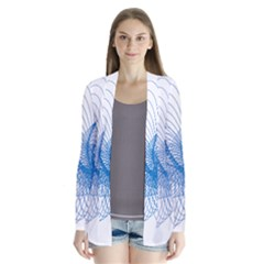 Spirograph Pattern Drawing Design Blue Cardigans