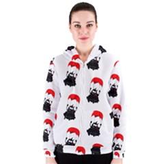 Pattern Sheep Parachute Children Women s Zipper Hoodie