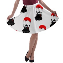 Pattern Sheep Parachute Children A Line Skater Skirt
