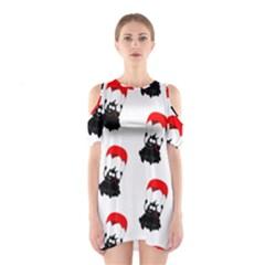 Pattern Sheep Parachute Children Shoulder Cutout One Piece