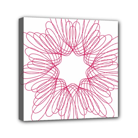 Spirograph Pattern Drawing Design Mini Canvas 6  X 6
