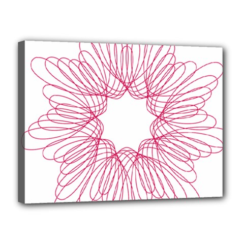 Spirograph Pattern Drawing Design Canvas 16  x 12