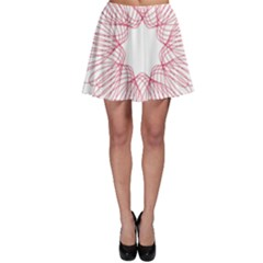 Spirograph Pattern Drawing Design Skater Skirt