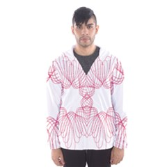 Spirograph Pattern Drawing Design Hooded Wind Breaker (men)