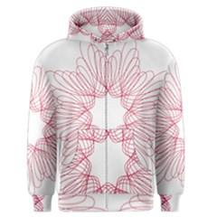 Spirograph Pattern Drawing Design Men s Zipper Hoodie