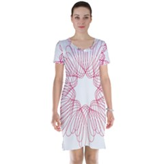 Spirograph Pattern Drawing Design Short Sleeve Nightdress