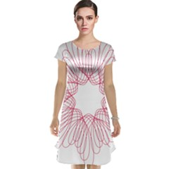 Spirograph Pattern Drawing Design Cap Sleeve Nightdress