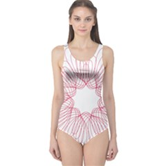 Spirograph Pattern Drawing Design One Piece Swimsuit