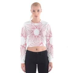 Spirograph Pattern Drawing Design Cropped Sweatshirt