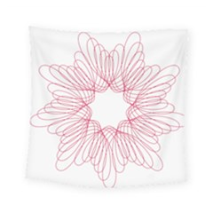 Spirograph Pattern Drawing Design Square Tapestry (small)